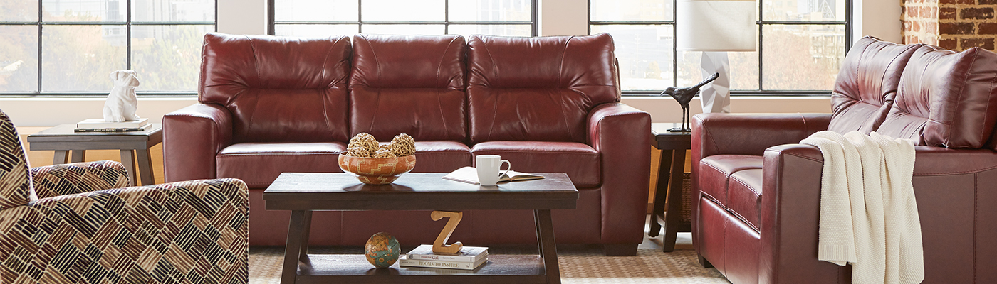 Leather Sofa fall RoomScene